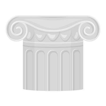 architectural styles: Column icon in monochrome style isolated on white background. Theater symbol vector illustration Illustration
