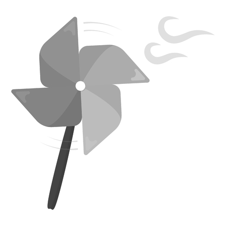wind mill toy: Toy windmill monochrome icon. Illustration for web and mobile.