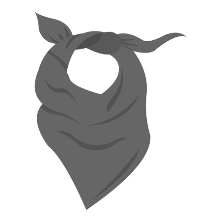 Cowboy scarf icon monochrome. Singe western icon from the wild west monochrome.