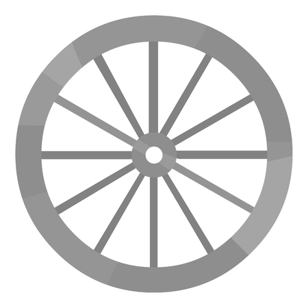 Cart-wheel icon monochrome. Singe western icon from the wild west monochrome.