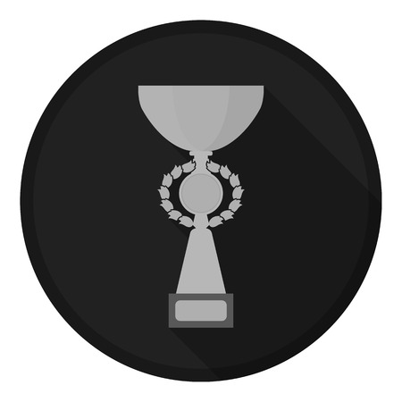 gold cup: Gold cup icon in monochrome style isolated on white background. Winner cup symbol vector illustration.