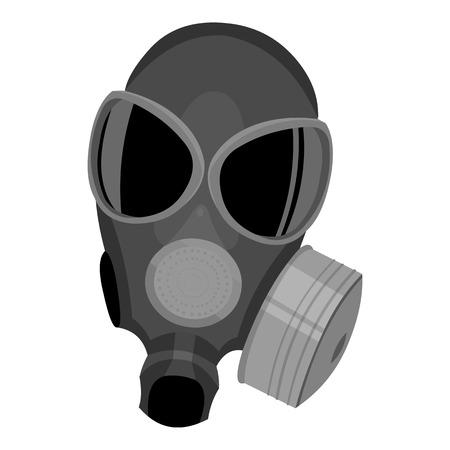 gas masks: Gas masks icon monochrome. Single weapon icon from the big ammunition, arms monochrome. Illustration