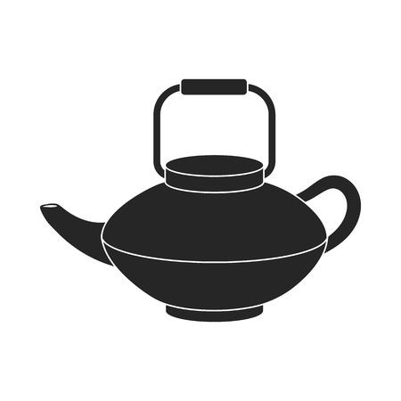 tetsubin: Tetsubin icon in  black style isolated on white background. Sushi symbol vector illustration. Illustration