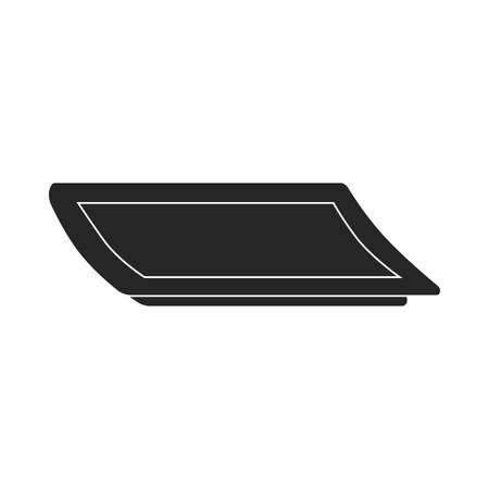 sushi  plate: Plate icon in  black style isolated on white background. Sushi symbol vector illustration.