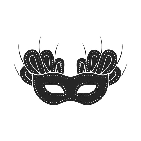 stage costume: Mask icon in  black style isolated on white background. Theater symbol vector illustration