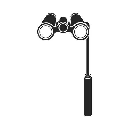 Icône de lunettes d'opéra en style noir isolé sur fond blanc. Symbole théorique illustration vectorielle Vecteurs