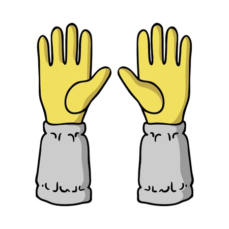 Beekeepers gloves icon in cartoon style isolated on white background. Apairy symbol vector illustration Illustration