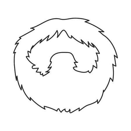 style goatee: Mans beard icon in outline style isolated on white background. Beard symbol vector illustration.