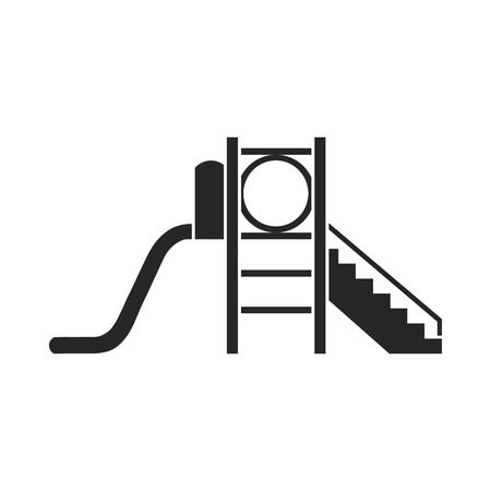 Playground slide icon in black style isolated on white background. Play garden symbol vector illustration.