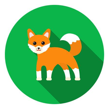 sly: Fox icon in flat style isolated on white background. Animals symbol vector illustration. Illustration