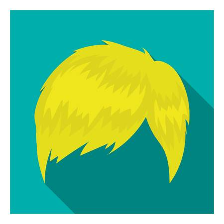 Mans hairstyle icon in flat style isolated on white background. Beard symbol vector illustration. Illustration
