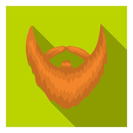 style goatee: Mans beard icon in flat style isolated on white background. Beard symbol vector illustration. Illustration