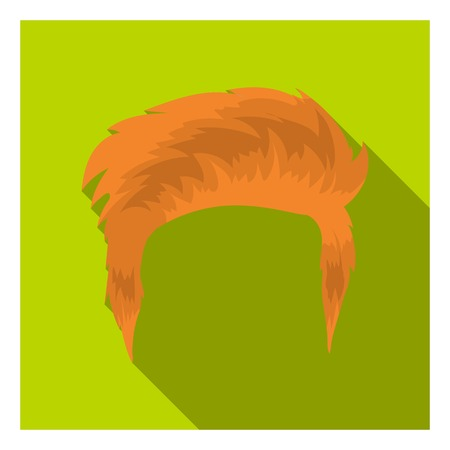 afro hairdo: Mans hairstyle icon in flat style isolated on white background. Beard symbol vector illustration. Illustration