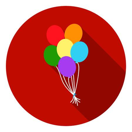 Balloons icon in flat style isolated on white flat. Gay symbol vector illustration.