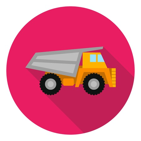 haul: Haul truck icon in flat style isolated on white background. Mine symbol vector illustration.