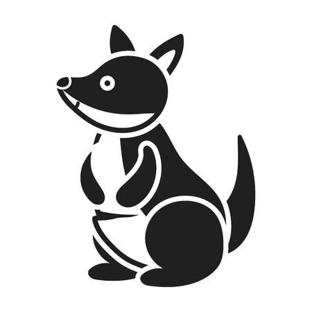 Kangaroo icon in black style isolated on white background. Animals symbol vector illustration.