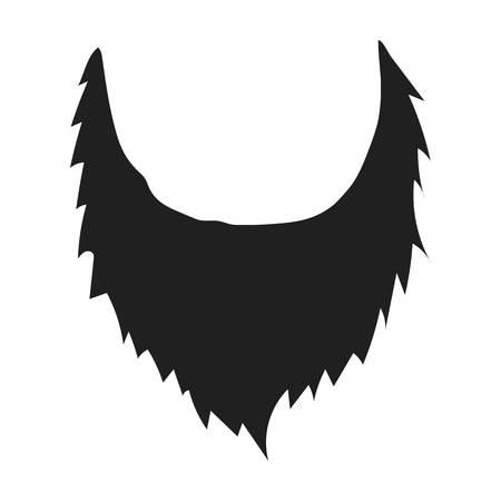 man's: Mans beard icon in black style isolated on white background. Beard symbol vector illustration.