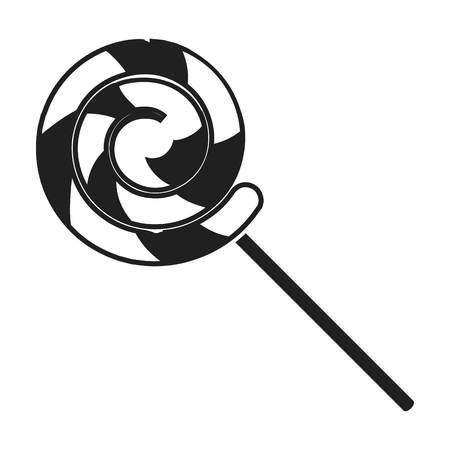 summer's: Lollipop icon in black style isolated on white background. Circus symbol vector illustration.