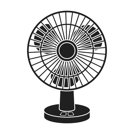 fan clipart black and white. table fan green: icon in black style isolated on white background. household appliance clipart and b