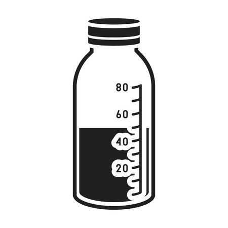 litre: Mixture icon in black style isolated on white background. Medicine and hospital symbol vector illustration. Illustration
