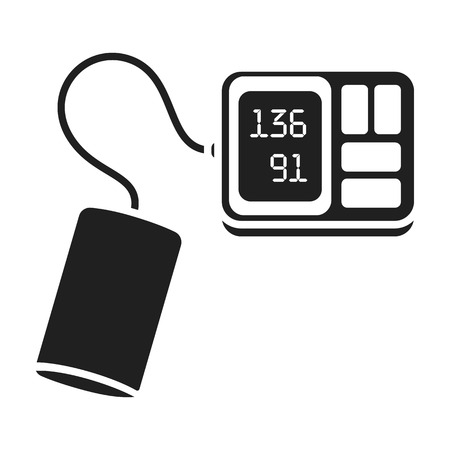 tonometer: Tonometer icon in black style isolated on white background. Medicine and hospital symbol vector illustration. Illustration