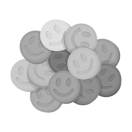 in ecstasy: icono de éxtasis en estilo blanco y negro sobre fondo blanco. Drogas ilustración vectorial símbolo.