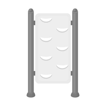 wall bars: Gymnastics wall bars icon in monochrome style isolated on white background. Park symbol vector illustration. Illustration
