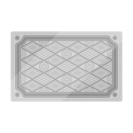 red rug: Turkish carpet icon in monochrome style isolated on white background. Turkey symbol vector illustration.