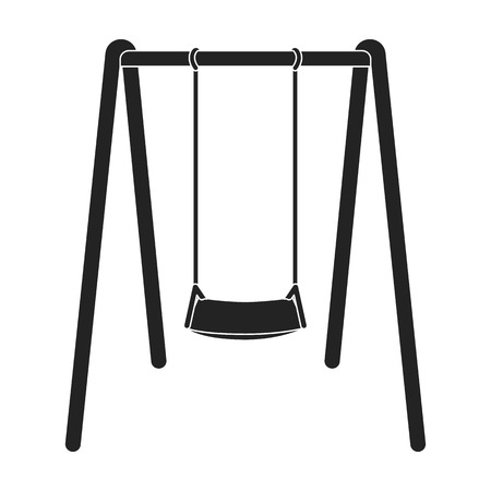 Swing seat icon in black style isolated on white background. Park symbol vector illustration.