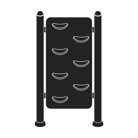 wall bars: Gymnastics wall bars icon in black style isolated on white background. Park symbol vector illustration. Illustration