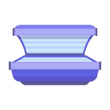 Curtido icono de la cama en el estilo de dibujos animados aislado en el fondo blanco. cuidado de la piel ilustración vectorial símbolo.