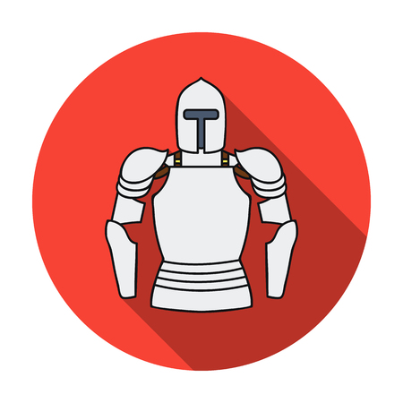 Plate armor icon in flat style isolated on white background. Museum symbol vector illustration. Illustration