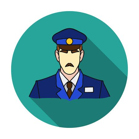 Museum security guard icon in flat style isolated on white background. Museum symbol vector illustration.