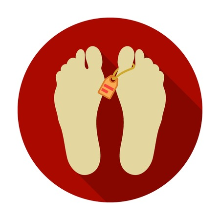 dissection: Corpse icon in flat style isolated on white background. Drugs symbol vector illustration.
