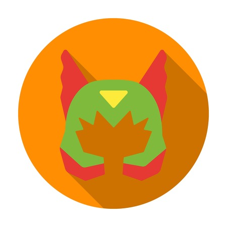 Superheros helmet icon in flat style isolated on white background. Superheros mask symbol vector illustration.