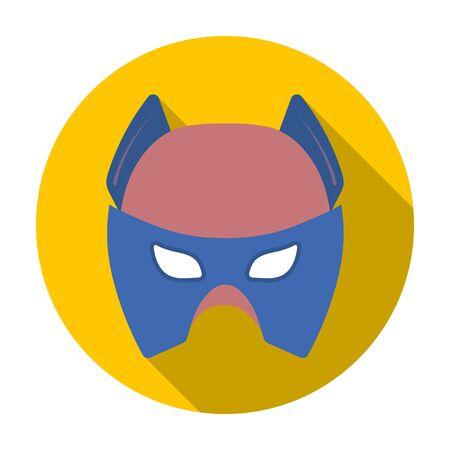 Full head mask icon in flat style isolated on white background. Superheros mask symbol vector illustration.