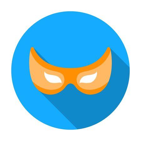 Eye mask icon in flat style isolated on white background. Superheros mask symbol vector illustration. Illustration