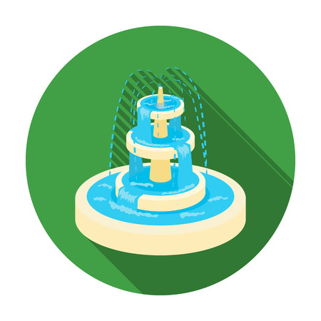 Fountain icon in flat style isolated on white background. Park symbol vector illustration. Illustration