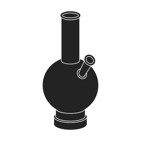 Bong icon in black style isolated on white background. Drugs symbol vector illustration.