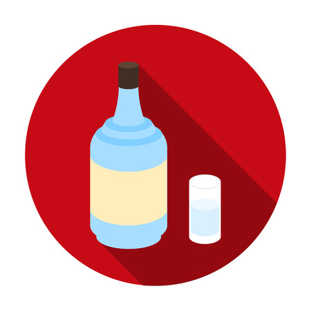 gin: Gin icon in flat style isolated on white background. Alcohol symbol vector illustration.