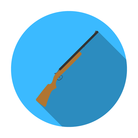 Hunting rifle icon in flat style isolated on white background. Hunting symbol vector illustration. Illustration