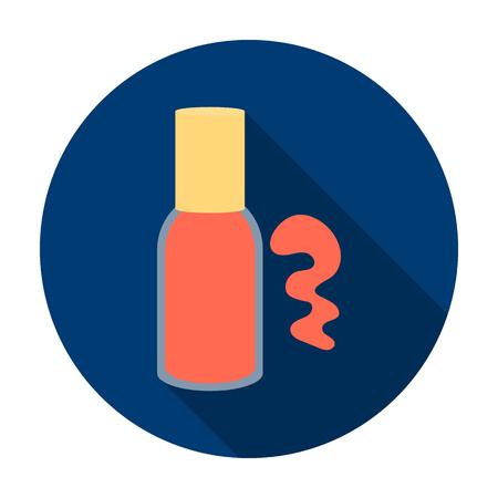 Nail polish icon in flat style isolated on white background. Make up symbol vector illustration. Illustration