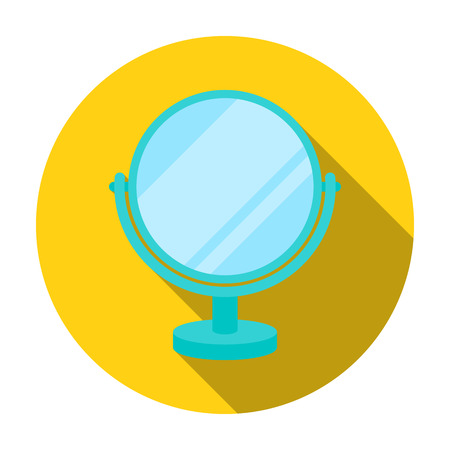Mirror icon in flat style isolated on white background. Make up symbol vector illustration.