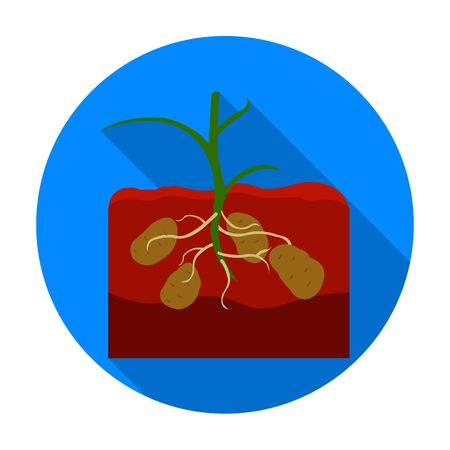 Potato icon in flat style isolated on white background. Plant symbol vector illustration. Vectores
