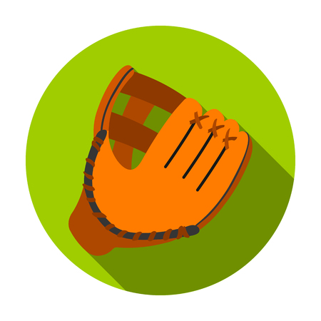 Baseball glove icon in flat style isolated on white background. Sport and fitness symbol vector illustration.