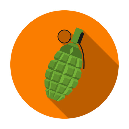 Grenade icon in flat style isolated on white background. Weapon symbol vector illustration.
