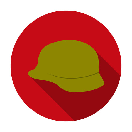 Military helmet icon in flat style isolated on white background. Weapon symbol vector illustration.