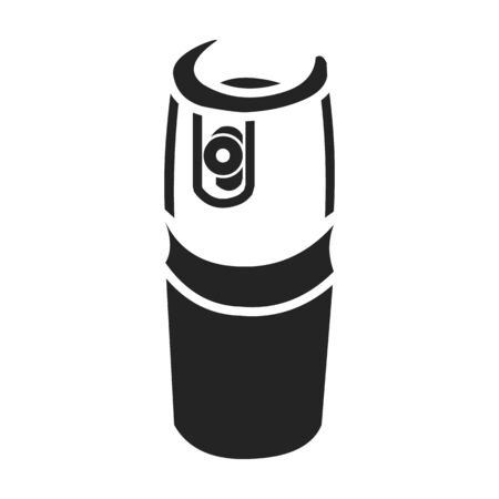 canister: Gas canister icon in black style isolated on white background. Weapon symbol vector illustration.