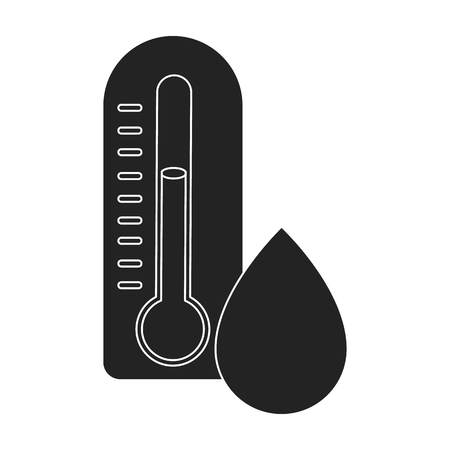 damp: Damp day icon in black style isolated on white background. Weather symbol vector illustration.