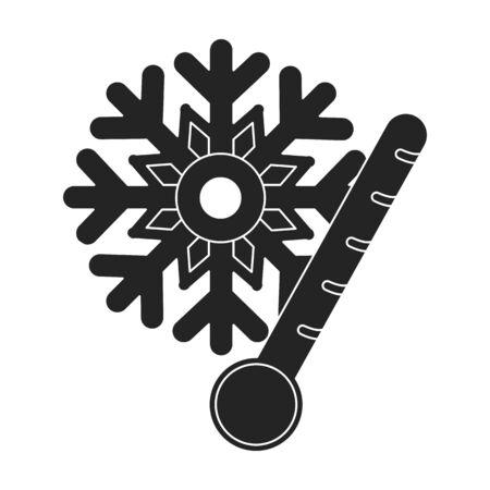 Frost icono en estilo negro aislado sobre fondo blanco. Ilustración del vector del símbolo del tiempo. Ilustración de vector